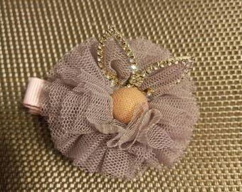 Pink bunny baby girl hair clip