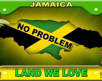 Jamaica License  Plate No problem Novelty Tag