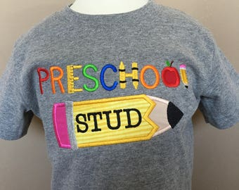 Personalized Back to School Stud Pencil ANY GRADE Shirt