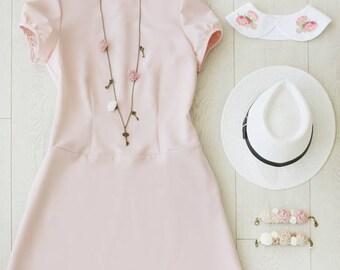 Dress, Short Dress, Bridesmaid Dress, Dusty Pink Dress, Pink Dress, Wedding Dress, Summer Dress, Dresses, Day Dress, Designer Dress