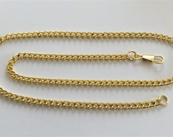 """Yellow Gold Plated Curb Chain, 24""""long, 7x5mm links."""
