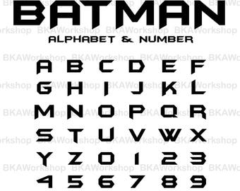 Batman alphabet svg - Batman alphabet vector - Batman alphabet digital clipart for Design or more, files download svg, png, dxf