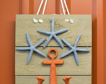 Anchor with Starfish Hanger