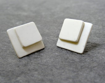 """""""Dazzled"""" cold porcelain earrings"""