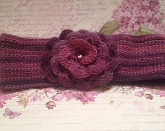 Headband. Soft and warm headband for girl. Crocheted headband