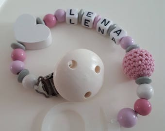"Pacifier ""Heart with wish name"