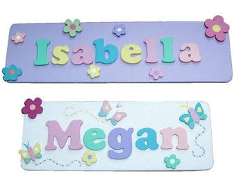 Decorated Name Plaques for Girls