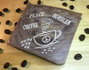 Coffee Soap - Engraved Soap for Coffee Lovers