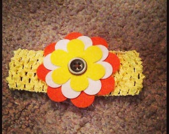 Yellow & Orange Baby Headband