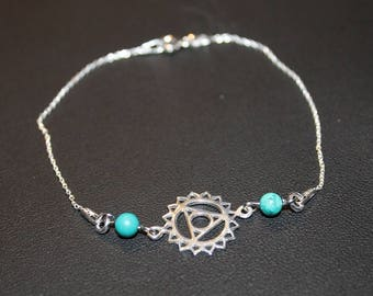The Turquoise and throat Chakra bracelet