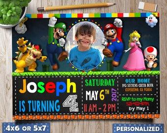 Super Mario Party, Super Mario Invitation, Super Mario Brothers, Super Mario Birthday, Super Mario Birthday Invitation, Super Mario Favors