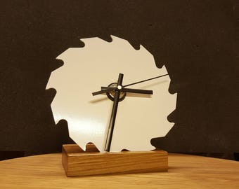 Sawblade Clock on oak