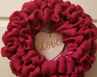 "Valentines wreath 14"""