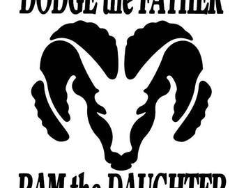 Father daughter decal ram Dodge car