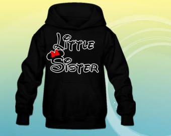 Little sister Disney font kids hoodies, popular design