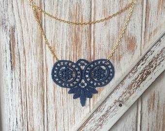 Vintage Lace Boho Necklace