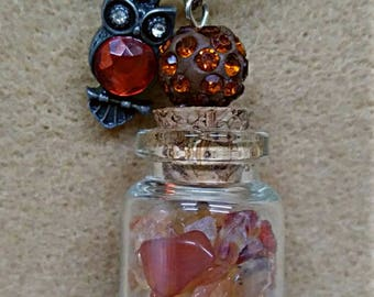 Red/Fire Agate Charm Necklace
