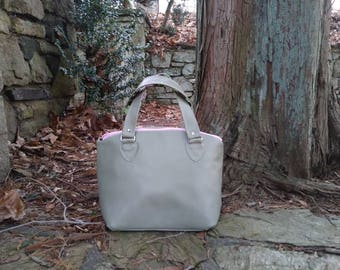 Light Green Leather Dome Bag