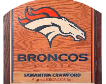 Personalized 3D Wood Sign - Denver Broncos