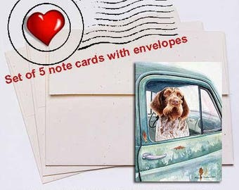 Wait Here German Wirehaired Pointer Note Card Set