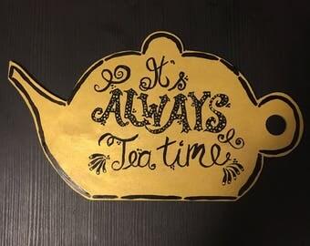 Its Always Tea Time Teapot Canvas