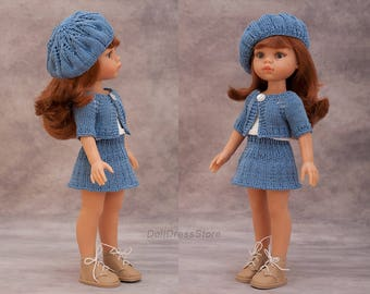 Paola Reina outfit, knit doll costume for Corolle les Cheries, Paola Reina, knit clothes for doll, 12 inch doll clothes.