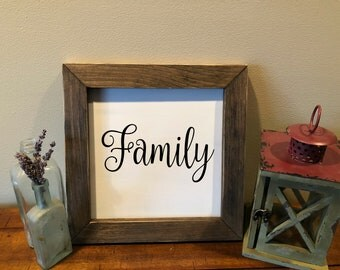 Family, Farmhouse,Distressed,Wooden,Handmade,Home, Living, Decor, Sign