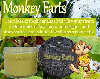 Monkey Farts Sample Jar Candle (4 oz.)