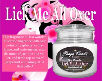 Lick Me All Over Scented Soy Jar Candle (16 oz.)