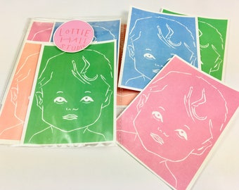 Four Babies Mini Prints