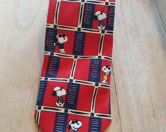 Retro peanuts snoopy novelty cool dude tie