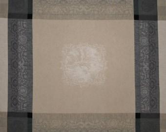 Barocos White-Gray Napkins, French Jacquard