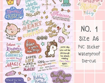 Hand-drawing Stickers NO.1 fairy tale text