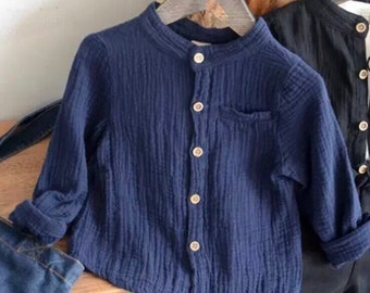 Cotton linen blend shirts