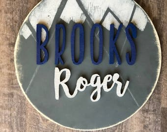 Custom round Name signs!!