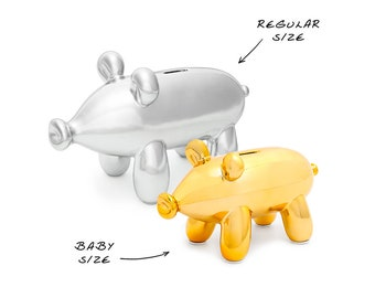 Baby Piggy Balloon Money Bank /Gift for Babies/,Girls and Women/ Ceramic Coin Bank/ Piggy Figurine/ Modern Home Decor/ Unique/ Cool