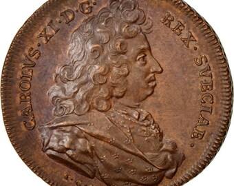 sweden politics society war medal 1668 au(55-58) copper 33 14.30