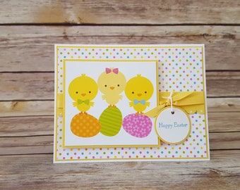 Yellow Chicks Easter Card