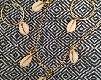 NOW ! Sea Shell Necklace Summer Trend Boho Blogger Fashion Jewelry US Handmade