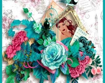 Shabby Chic meets Art Deco Greeting Card