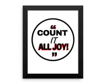 Count it all Joy! - Framed photo