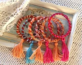 Boho festival summer bracelets
