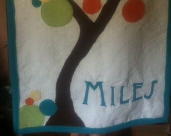 Custom baby quilt with name