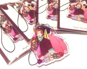 Valentine's Day McHanzo acrylic keychain
