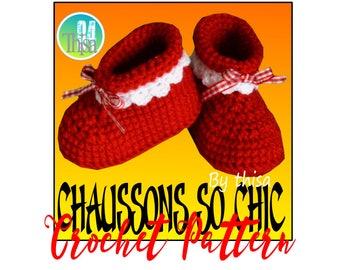 Tutorial fancy crochet slippers