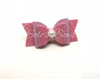 Pink Leona Bow