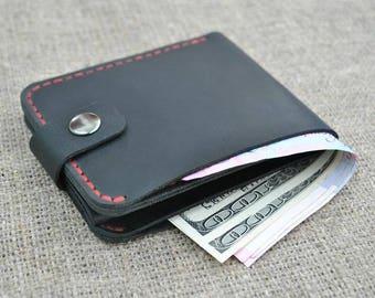 Leather pocket wallet
