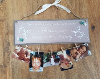 Personalised photo plaque