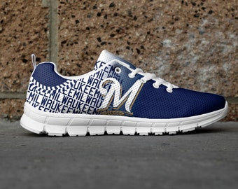 Milwaukee Baseball Generation 2 Custom Fan Made Mesh Running/Athletic Shoes