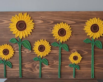 Delicieux Sunflower Wall Decor Sunflower Wall Art String Art Sunflower Sunflowers  Painting Unique Sunflower Rustic Sunflower Sunflower
